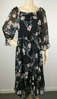 Jacqui E Peasant Office Work Floral Dress / Size 14