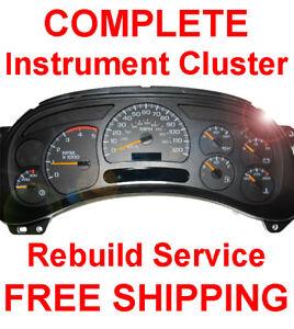 1999-2007 GMC Sierra Instrument Gauge Cluster Speedometer Dash Panel REPAIR