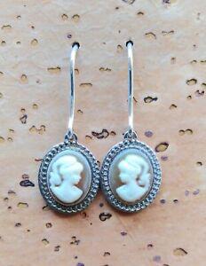 Orecchini donna argento 925 pendenti a monachella