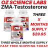 ZMA 3 Months - Zinc - Magnesium - Vitamin B6 - Testosterone Booster - AUST MADE