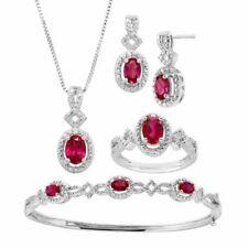 Finecraft 4 Ct Emerald 4-piece Jewelry Set W/ Diamonds in 14k Gold-plated Brass
