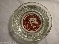 Vintage Las Vegas Casino Memorabilia - MGM Grand Ashtray - Glass