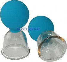 ANTI-CELLULITE MASSAGE THERAPY 2 POLYCARBONATE MASSAGE CUPS FOR HOME & SALON USE