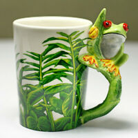 Lovely Cartoon 3D Frog Hand Painting Coffee Mug Porcelain Ceramic Tea Cup