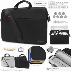 Genuine tomtoc 15.6 Slim Laptop Sleeve Shoulder Bag Case for MacBook/HP/Dell
