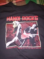 Vintage Hanoi Rocks Tour Concert Short Sleeve Black Men T Shirt Size S-4XL S095