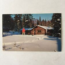Winter Cabin in the Snow Unposted Postcard