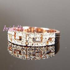 Rose Gold Plated Crystal Rings for Men