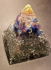 Orgone Pyramid Galaxy Vibes Amethyst Lapis Lazuli Gold Quartz Orgonite Energy