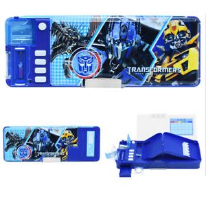 Multi-function Boy'S Pencil Box School Pencil Pen Box Transformers Bumblebee