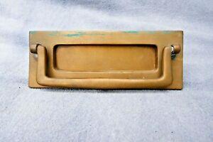 Vintage 1920s/30s Heavy Brass Letterbox Door Knocker Heavy Letter Flap Project