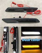 DRL Turn Signal SWITCHBACK Fender Marker Light LED CARBON LOOK For E90 E92 E93