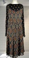 Excellent Indian Inspired Floaty BIBA Floaty Midi Dress - Size 10