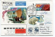 URSS CCCP Exploration Mission Base Ship Polar Antarctic Cover Express Moscow