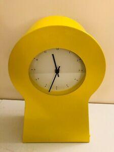 IKEA PS 1995 YELLOW SHELF KEY HOLE SHAPE WALL CLOCK STORAGE 21603.