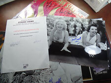 Jane Russell autograph 10x13 w/ Marilyn Monroe SIGNED Gentlemen Prefer Blondes