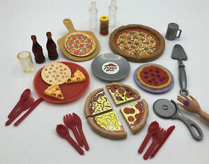 Barbie Ken Doll FOOD Kitchen GROCERY PIZZA HUT PARTY PLATES SODA DIORAMA