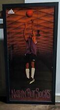 "Kobe Bryant Adidas Framed Poster 1996 ""Nothin' But Socks"" 1st Advertisement RARE"