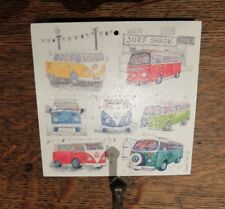 Emma Ball ~ Wall Hanging Plaque with Hook ~ Campervans~