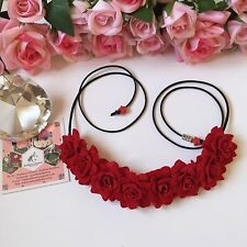 NEW FLOWER CROWN HAIR ACCESSORY BOHO CHIC FLORAL HEADBAND HALO ARTIFICIAL ROSES