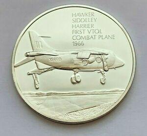 HISTORY OF FLIGHT 1966 HAWKER SIDDELEY HARRIER FIRST VTOL COMBAT PLANE MEDAL