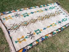Moroccan Rug 100cm x 185cm beni ourain azilal boucherouite Berber Rugs ref.m40