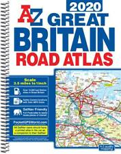 Great Britain Road Atlas A4 by A-Z Map Company (Spiral, 2020)