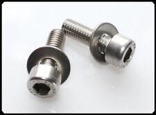 2 Edelstahl Schrauben + Unt.-Scheibe für Flaschenhalter,  Zylindekopf, M5 x 16mm