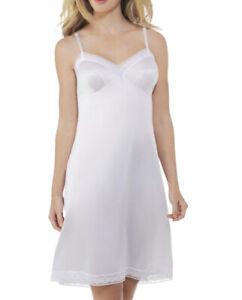 """Vanity Fair Women's Rosette Lace Trim V-Neck Full Slip 10103 White 38 22"""""""