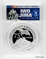 2020-P $2 Iwo Jima 75th Ann. 2oz Silver Piedfort Proof Coin PCGS PR69 - FDI