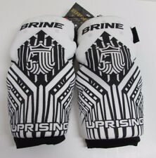 Brine Uprising Lacrosse White Black Large Arm Pads