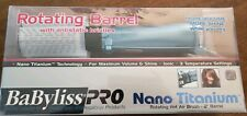 "BABYLISS PRO NANO TITANIUM 2"" ROTATING BARREL HOT AIR BRUSH BLOW AIR BRUSH NEW"