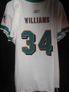 Miami Dolphins #34 Ricky Williams Women's OnField  Performance Apparel Jersey XL