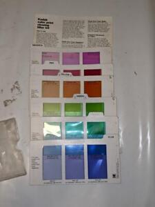 Darkroom - Kodak Color Print viewing Filter Kit R-25- 1981 Complete
