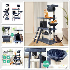 I.pet Cat Tree Trees Scratching Post Scratcher Tower Condo House Furniture 141cm