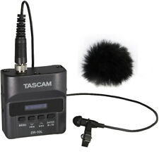 Tascam DR-10L Recorder with Lavalier Microphone+fur Wind Protector