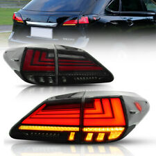 For 2009 2015 Lexus Rx350 Rx450 Rx270 Tail Lights Led Smoked Rear Lamps Assembly