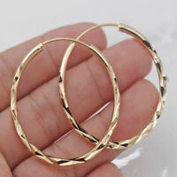 18k Gold Plated Hoop Earrings  Gorgeous Women Boho Exaggerated Party Girl Gift