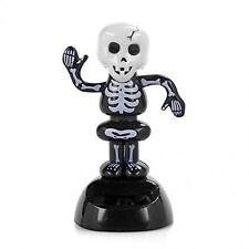 Solar Power Dancing Figure Gruesome Skeleton,Novelty Desk Car Toy Ornament R0Q7
