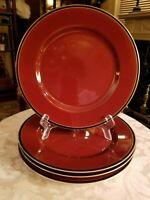 Fitz and Floyd HATTORI CINNABAR Dinner Plates Set of 4 Vintage Porcelain, FF 67