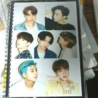 BTS Photo Note Book Exercise Book Workbook KPOP BangTan Boys Suga Jimin V Goods