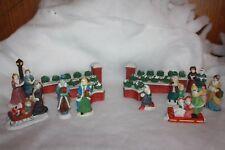 Porcelain Christmas Village Figures Lot Pre-Owned Great Condition 15 Pieces