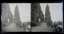 Dinant Belgique Grande Plaque stéréo négative 1906