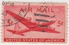 (UST-20) 1941 USA 5c red mail plane Air Mail (G)