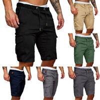 Men's Loose Plain Gym  Run Shorts Casual Sport Pants Summer Trousers
