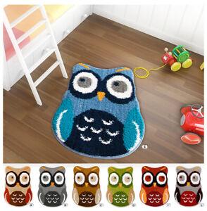 Carpet Baby Owl Bedside Carpet Bathroom Living Room 60x75cm Non-Slip Modern