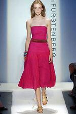 Diane von Furstenberg Sheryl Boho Strapless Belt Dress Size 10 DVF Wrap