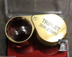 Emergency Fire Starter Eye Loupe 30x 21mm Magnifier Lens Bushcraft Survival Gear