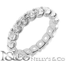 3.50 ct. tw Round Diamond Eternity U Shaped Wedding Band G-H SI-1 14K W. Gold