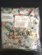 J. Crew Laura Femme Shirt Sz. 0 Liberty Print Dandelion *RARE* Brand New In Bag